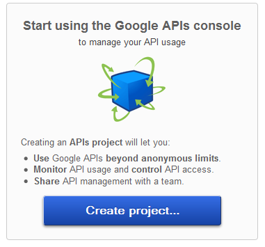 Create project API